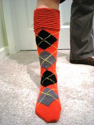 Wallace Argyle Sock1